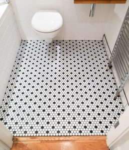 Bathroom floor Mosaic tiles