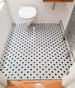 Bathroom floor Mosaic tiles