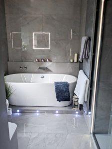 Bathroom large format porcelain tiles