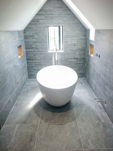 Bathroom walls and floor porcelain tiles