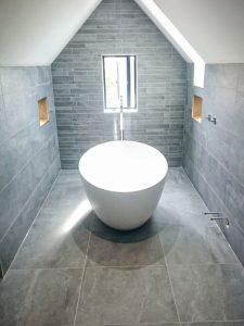 Bathroom walls and floor porcelain tiles